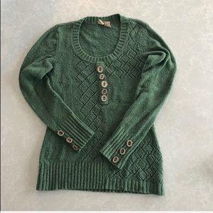 BKE green crewneck sweater Med